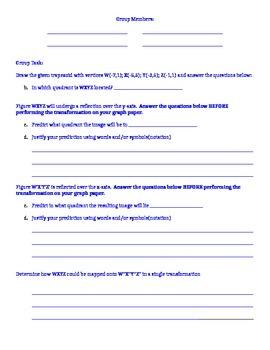 Transformations Activity - group & individual tasks (rotat