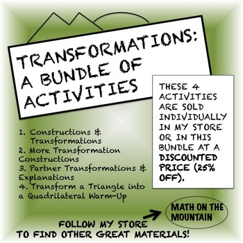 Transformations Bundle: 4 Activities