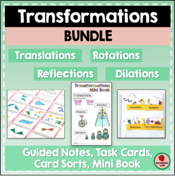 Transformations Growing Bundle Notation Practice Rotation