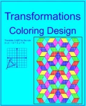 Transformations # 1 - Coloring Activity