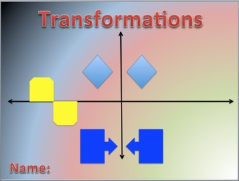 Transformations Digital Interactive Math Notebook