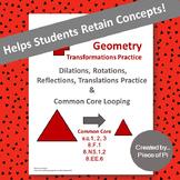 Transformations Dilations Rotations Reflections Translatio
