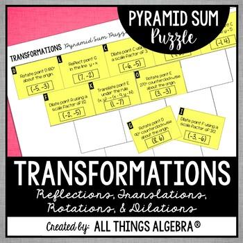 Transformations Pyramid Sum Puzzle