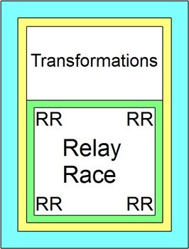 Transformations - RELAY RACE (Groups of 2) 8 rounds of 4 problems