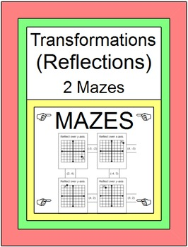 Transformations - Reflections (2 MAZES)