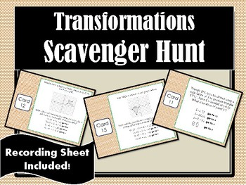 Transformations Scavenger Hunt