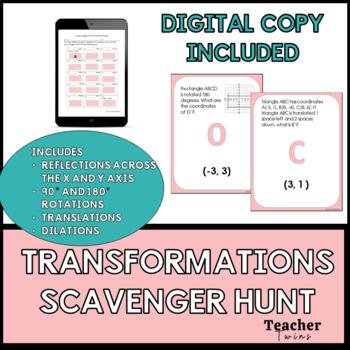 Transformations Scavenger Hunt Common Core Standard 8.G.A.3