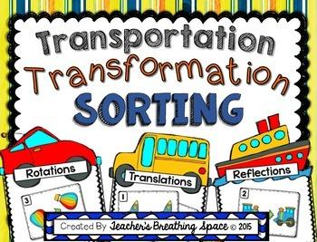 Transformations Sorting - Translation, Reflection, Rotatio
