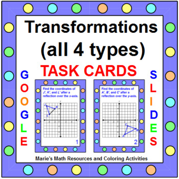Transformations - TASK Cards (24) and PARCC Practice (5) G