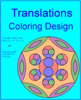 Transformations (Translations) # 1 - Coloring Activity