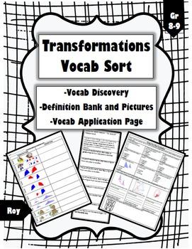 Transformations Vocabulary Sort
