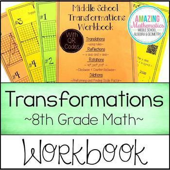 Transformations Workbook  ~ Translations, Rotations, Refle