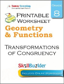 Transformations of Congruency Printable Worksheet, Grade 8