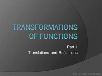 Transformations of Functions - Part 1: Translation and Reflection