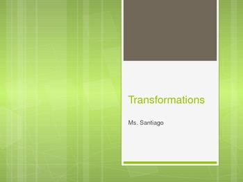 Transformations (rotations, translations, and reflections)