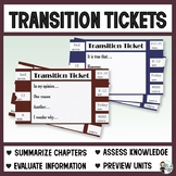 Transition Tickets: Paragraph Prompts
