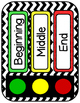 Transition Word Cards- 24 Color Coded Words to Post In You
