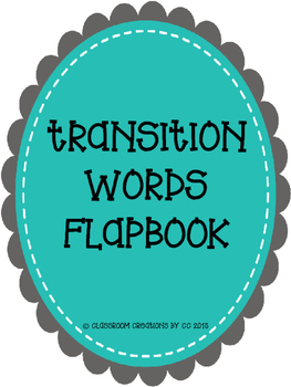 Transition Word Flapbook
