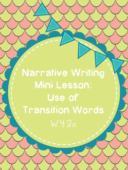Transition Words Mini Lesson