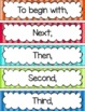 Transition Words Pocket Chart Display