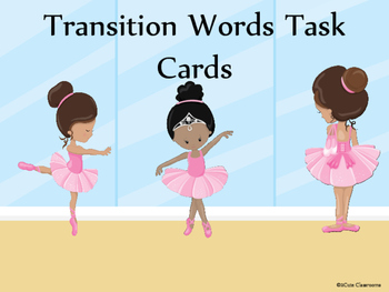 Transition Words Task Cards