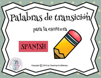 Transition Words for Writing (Spanish)
