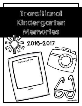 Transitional Kindergarten TK Memories Book Cover Page