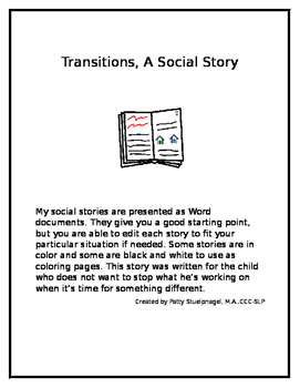 Transitions, A Social Story