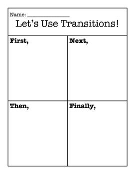 Transitions Graphic Organizer