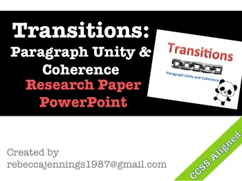 Transitions: Unity and Coherence Powerpoint Presentation