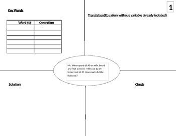 Translating Algebraic Equations
