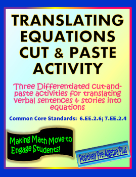 Translating Equations Matching Activity