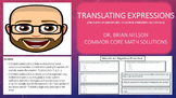 Translating Expressions (PowerPoint Lesson with Printables!)
