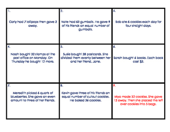 Translating Numerical Expressions - Task Cards