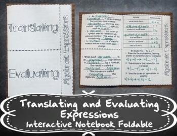 Translating and Evaluating Algebraic Expressions INB TEKS 6.7C