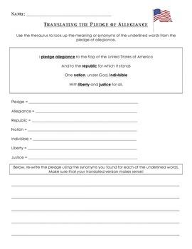 Translating the Pledge of Allegiance