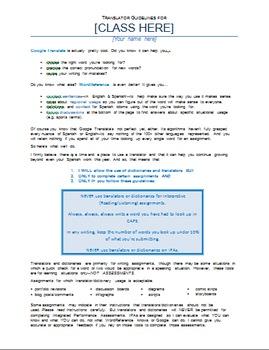 Translator Guidelines