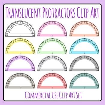 Translucent Protractors / Transparent Protractors in Vario