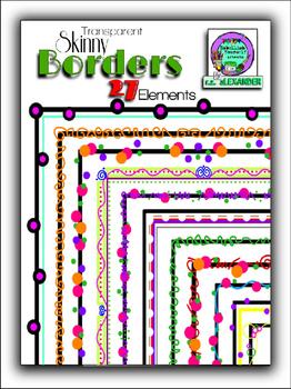 Transparent Skinny Borders Clipart