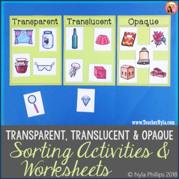 Light and Transparent Translucent Opaque Activities
