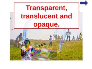 Transparent, Translucent and Opaque