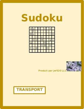 Transport (Transportation in French) Sudoku