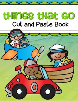 Transportation Cut and Paste Coloring Book