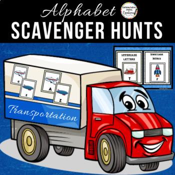 Transportation Alphabet Scavenger Hunt: Upper and Lowercas