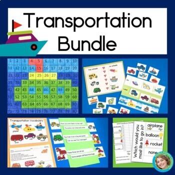 Transportation Bundle: Graphs, Reading, Hundreds Charts &