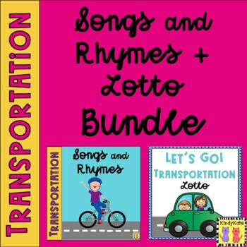 Transportation BUNDLE: Songs + Lotto, Circle Time