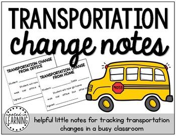 Transportation Change Notes