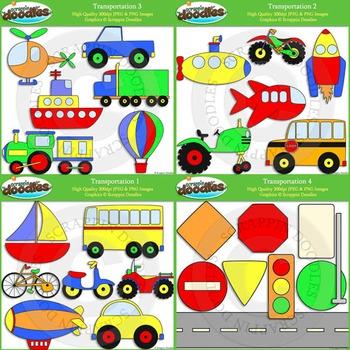 Transportation Clip Art & Line Art