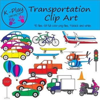 Transportation Clip Art - Set 1