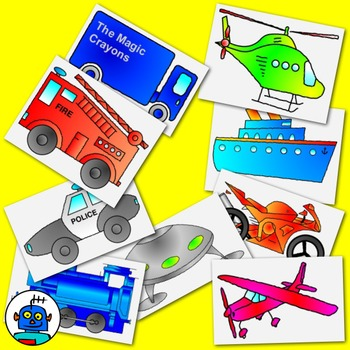 Clip Art for transportation and Vehicles - color and b/w p